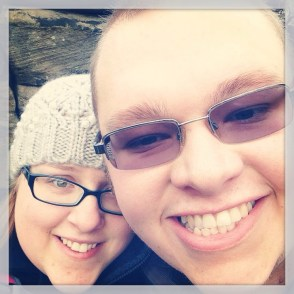 Me and Cameron at Brimham Rocks