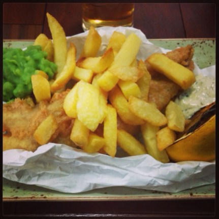 Fish and Chips at The Tetley
