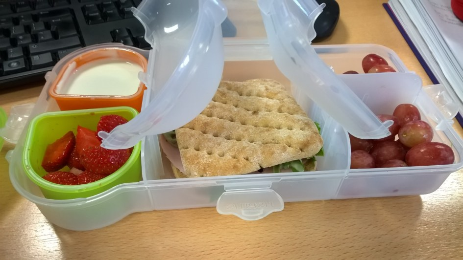 Healthy lunch and snacks