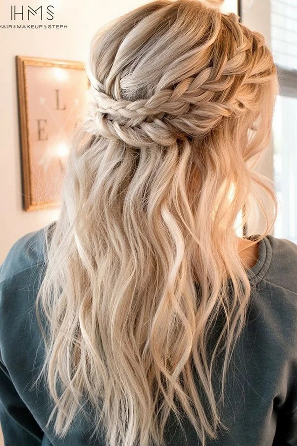 15 Chic Half Up Half Down Wedding Hairstyles for Long Hair  EmmaLovesWeddings