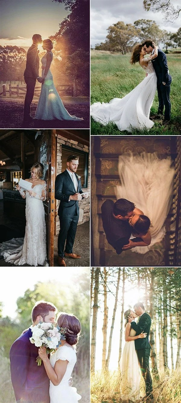 What are good colors for a fall wedding? 20 Romantic Bride and Groom Wedding Photo Ideas - Page 3