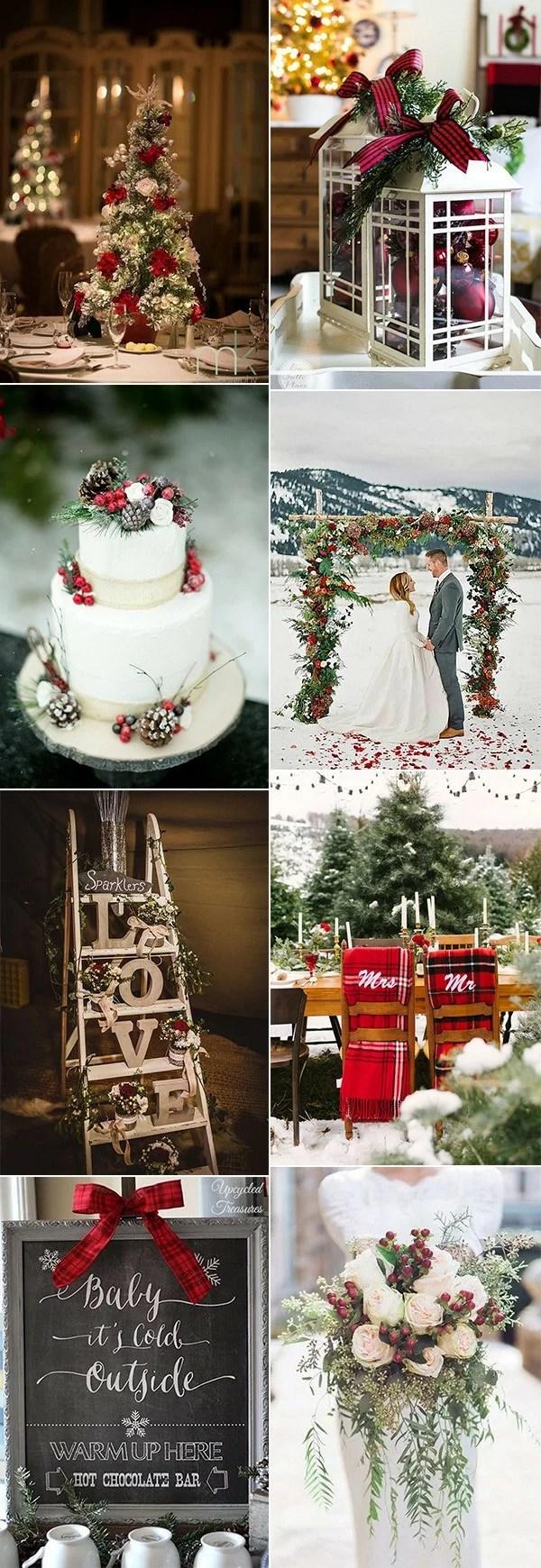 Christmas Themed Wedding Ideas