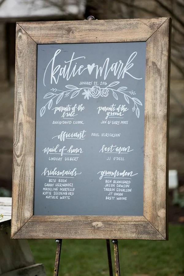 20 Chic Rustic Chalkboard Wedding Sign Ideas