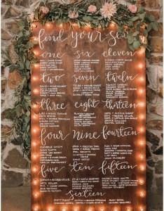 Unique wedding seating plan display ideas also trending chart for rh emmalovesweddings