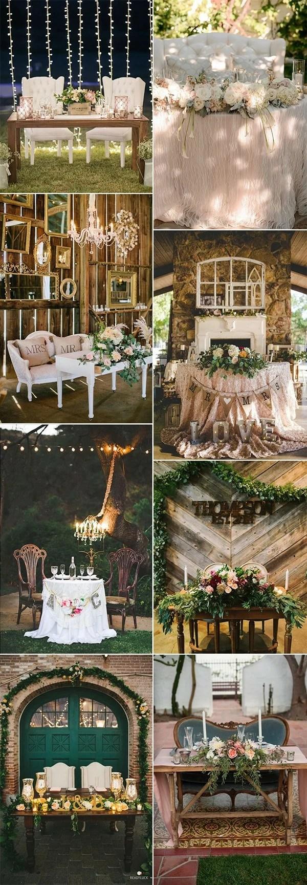 18 vintage wedding sweetheart table