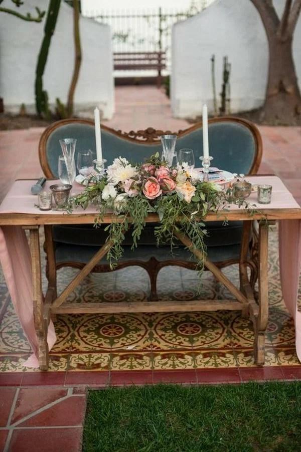 18 Vintage Wedding Sweetheart Table Decoration Ideas  EmmaLovesWeddings