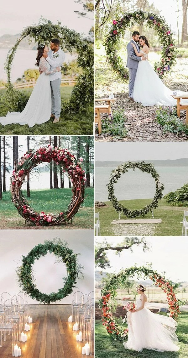 Top 20 Pretty Circular Wedding Arches for 2018 Trends  Page 3 of 3  EmmaLovesWeddings