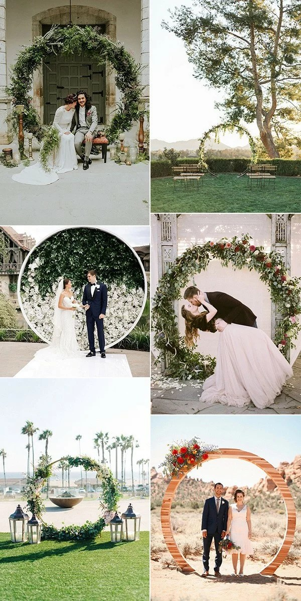 Top 20 Pretty Circular Wedding Arches for 2018 Trends  EmmaLovesWeddings