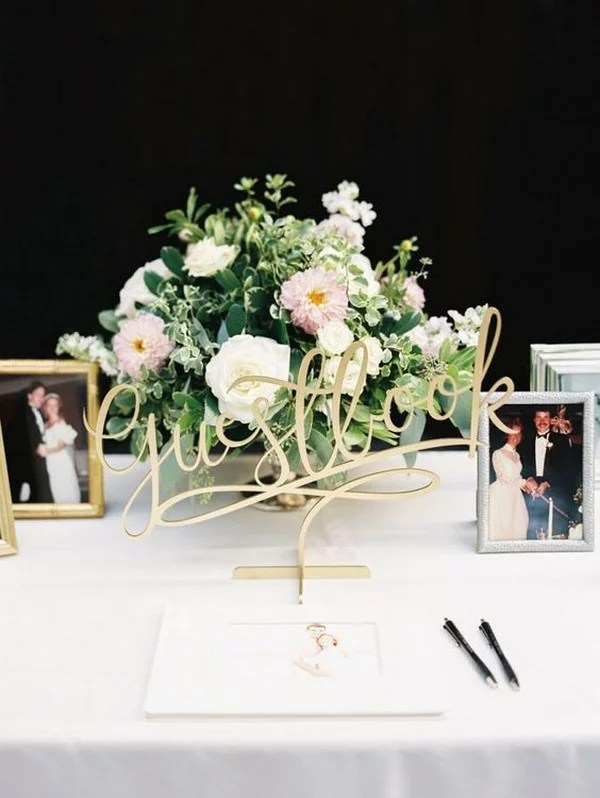 15 Trending Wedding Guest Book Sign In Table Decoration Ideas Page 2 Of 2 Emmalovesweddings