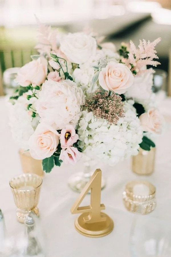 18 Elegant Blush Wedding Centerpieces for Your Big Day  EmmaLovesWeddings