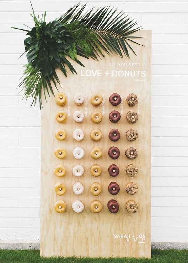 Top 18 Wedding Donut Wall Ideas For Your Reception Emmalovesweddings