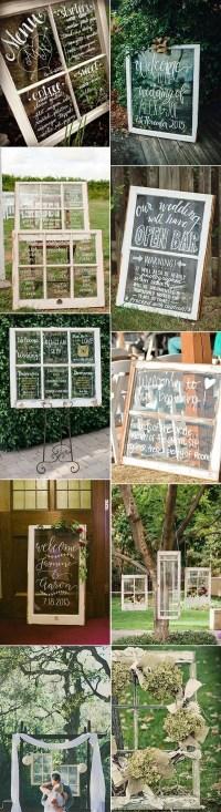 20 DIY Wedding Decoration Ideas with Vintage Windows ...