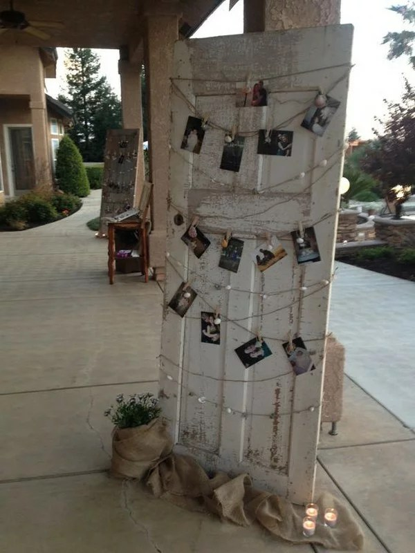 20 Rustic Wedding Decoration Ideas with Vintage Doors  EmmaLovesWeddings