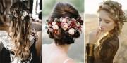 pretty fall wedding hairstyles