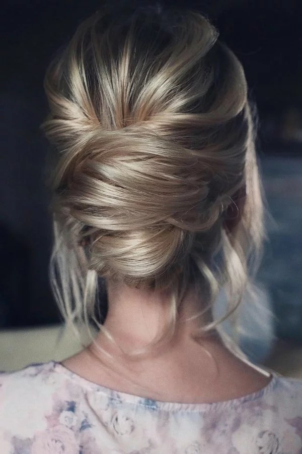 15 Stunning Low Bun Updo Wedding Hairstyles from Tonyastylist  EmmaLovesWeddings