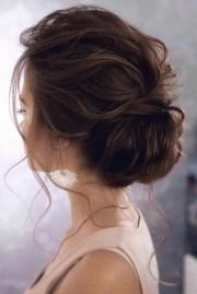 stunning bun updo wedding