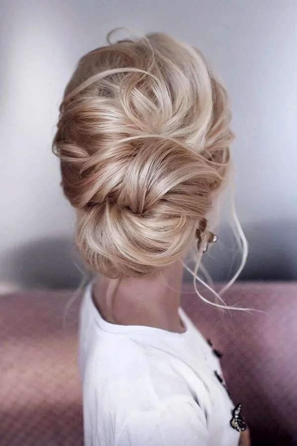 15 Stunning Low Bun Updo Wedding Hairstyles from Tonyastylist  EmmaLovesWeddings