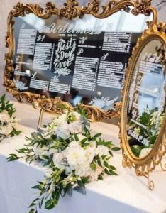 Vintage mirror frame wedding seating chart ideas also emmalovesweddings rh