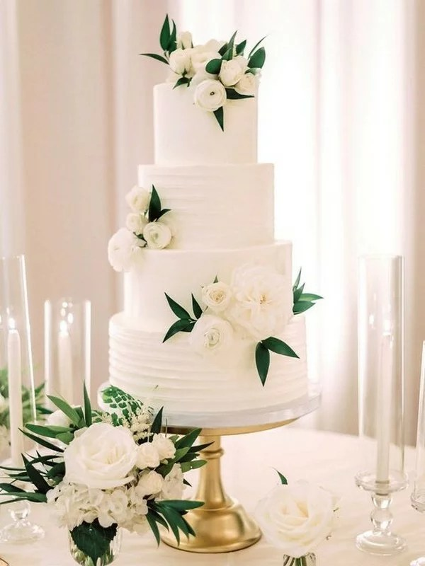 20 Simple Elegant Wedding Cakes For Springsummer 2019