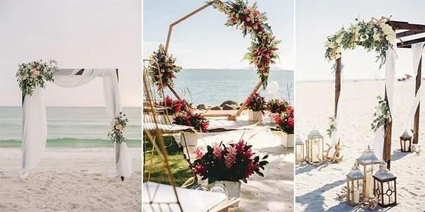 20 Stunning Beach Wedding Ceremony Ideas-Backdrops, Arches
