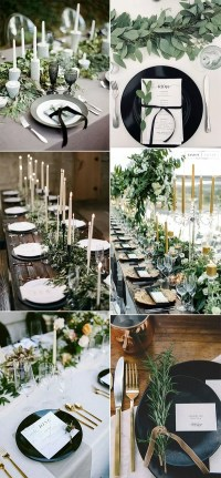 35 Green Black And White Wedding Ideas for Fall 2019 ...