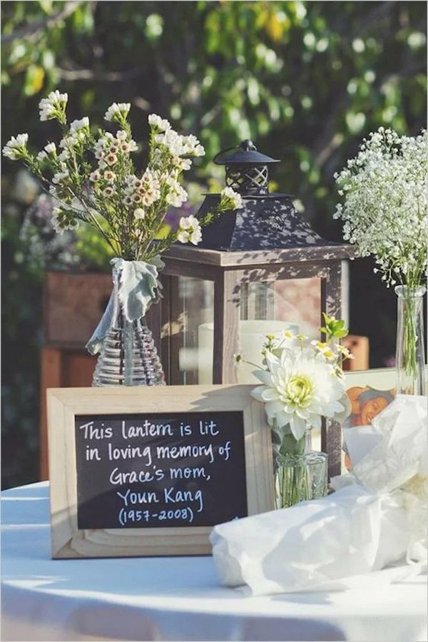 15 Wedding Memorial Table Decoration Ideas For Those Who