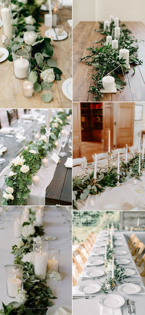 green wedding centerpieces on a budget