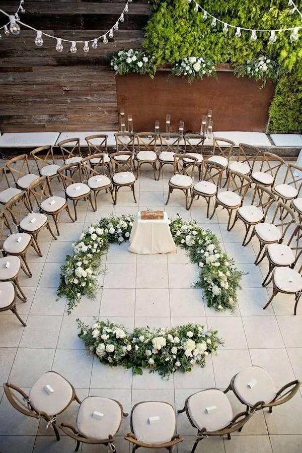 round wedding ceremony seating ideas