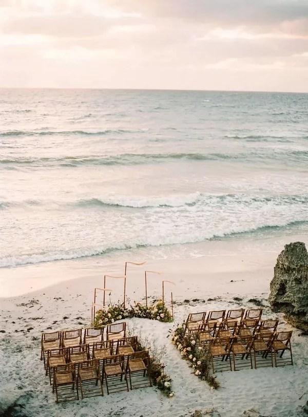 small intimate beach side destination wedding ceremony ideas