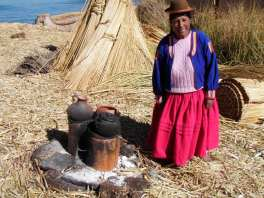 Cooking on a reed island