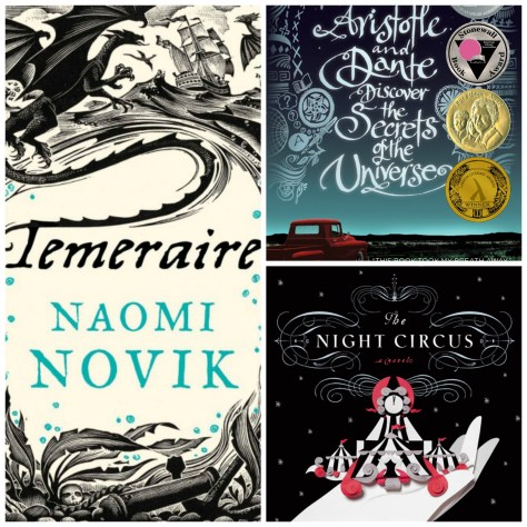 Three favourites: Temeraire, Aristotle & Dante and The Night Circus