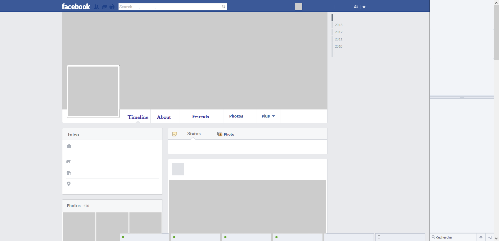 blank facebook template download