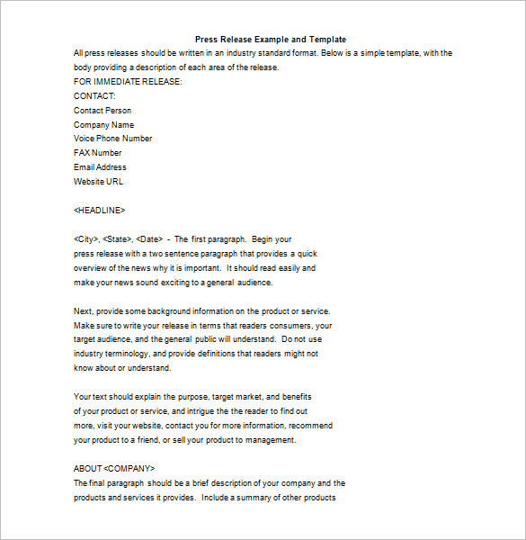 Press Release Email Template – emmamcintyrephotography.com