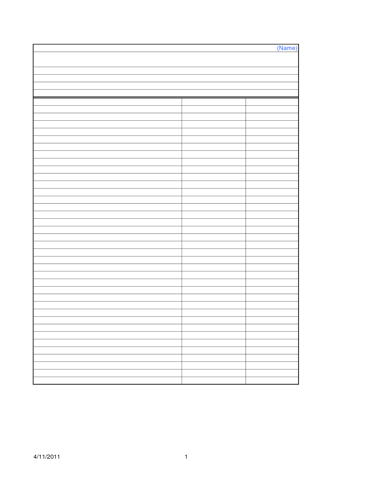 Year End Profit And Loss Worksheet