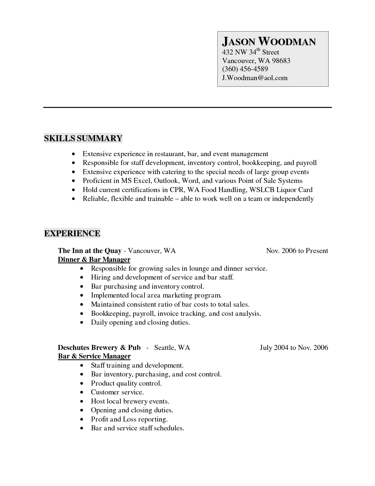 Generic Resume Template Emmamcintyrephotography