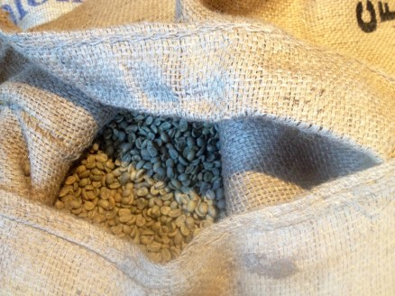 Raw coffee beans, like these, are imported and used in the coffee roasting process.