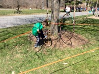 Children participated in The Tough Turtle Junior event that took place in The Ithaca Children's Garden.
