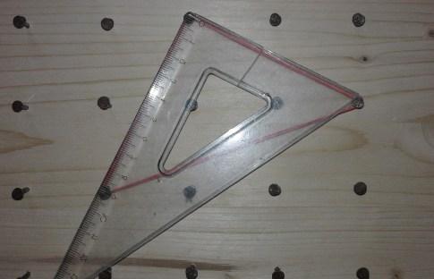 Triangolo rettangolo con i vertici nei nodi