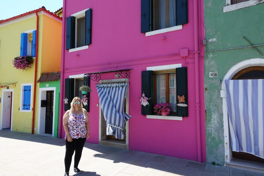 colorful houses burano italy