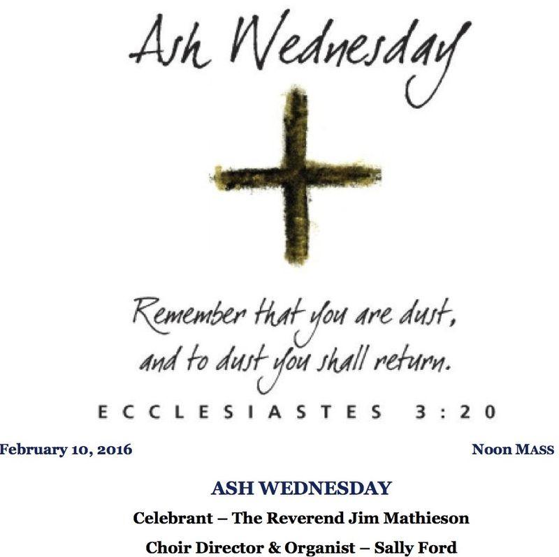 Emmanuel Episcopal Church: Service Bulletin for Ash Wednesday