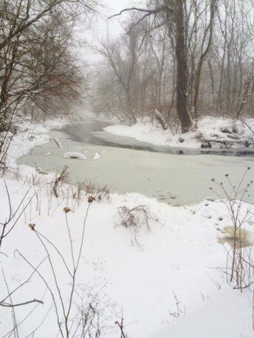 Frozen river - Fort Washington, PA.