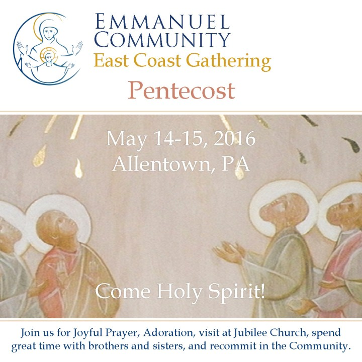Pentecost 2016 announcement