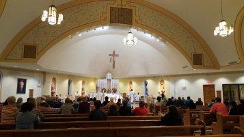 Adoration at St Anthony of Padua Parish in Ambler, PA