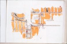 Chez Clark, dans le livre d'artiste Itinéraires, sérigraphie sur papier japonais, chine collé, 30 cm X 21 cm, 2004