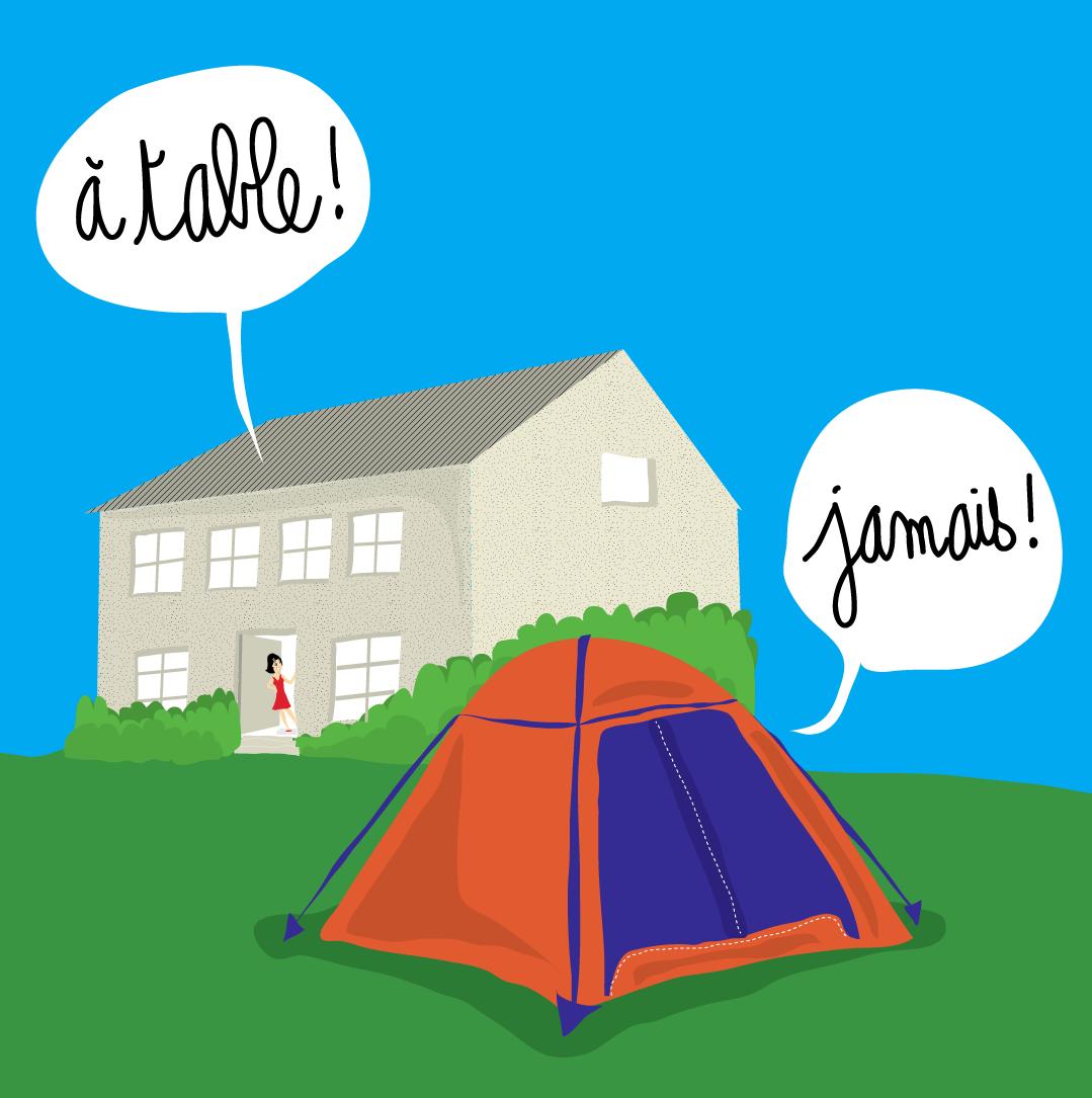 dessin tente maison ado