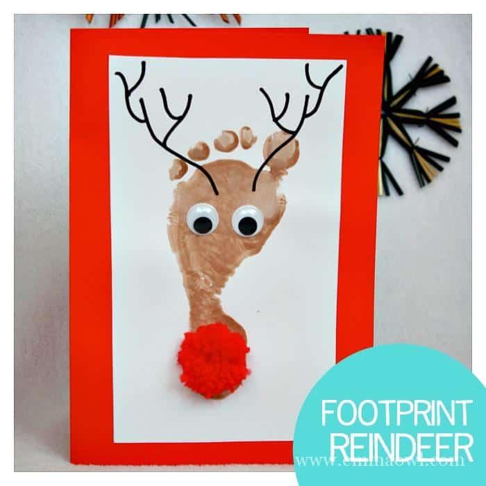 Penguin Christmas Cards Footprint.Reindeer Footprint Christmas Cards All You Need Is A Shiny
