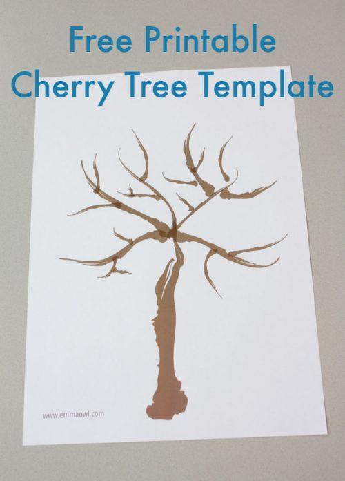 Free Printable Cherry Tree Template