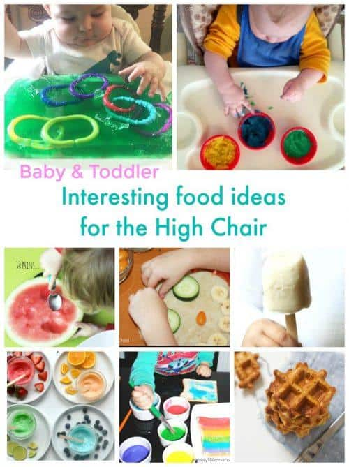 food ideas for baby & toddler in the high chair
