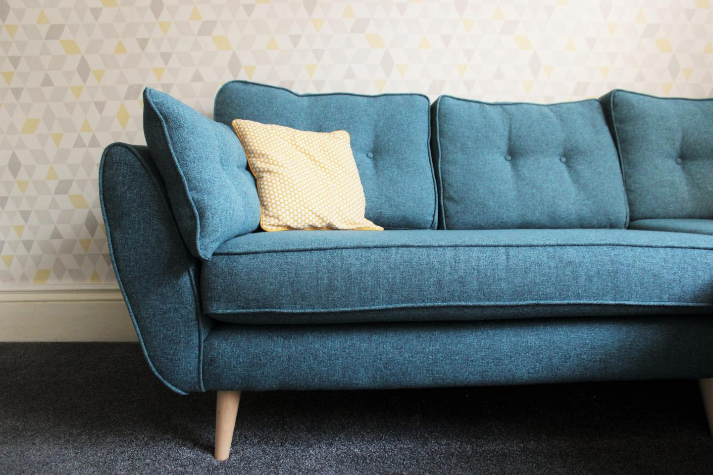 fearne cotton sofa alexis best filling for back cushions our living room makeover emma plus three
