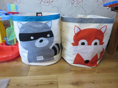 raccoon and fox toy sacks